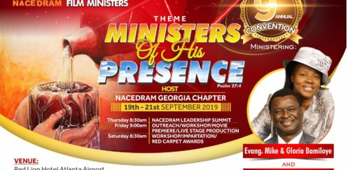 NACEDRAM 9TH CONVENTION: MINISTERS OF HIS PRESENCE(Psalm 27:4)