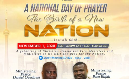 The birth of a new nation….let's gather to pray..